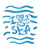 I love the sea Royalty Free Stock Photos