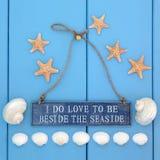I Love the Seaside Stock Image