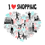 I love shopping concept Stock Photography