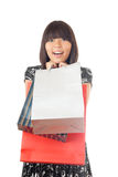 I love shopping of gifts Stock Images