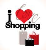 I love shopping. Stock Image