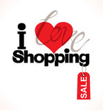 I love shopping. Royalty Free Stock Images
