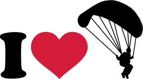 I love skydiver. Vector sports Stock Images