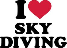 I love Skydiving. Vector sports Stock Photography