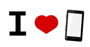 I love smart phones Royalty Free Stock Photography