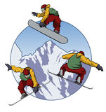 I love snowboarding royalty free stock photography
