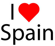 I love Spain Royalty Free Stock Photography