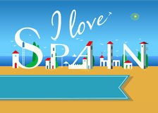I love Spain. Travel card Royalty Free Stock Photos
