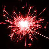 I love sparklers. Burning sparkler in the shape of a heart Royalty Free Stock Photo