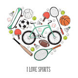 I love sport poster Stock Photo