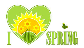 I love spring card Royalty Free Stock Photography