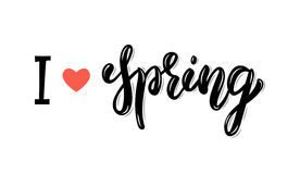 Free I Love Spring. Trendy Hand Lettering Quote, Fashion Graphics, Art Print For Posters And Greeting Cards Design. Calligraphic Isolat Stock Images - 85031364