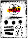 I Love Street Art Creative Vector Bright Poster Concept Stock Image