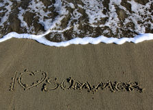 I love summer. On the beach Royalty Free Stock Photography