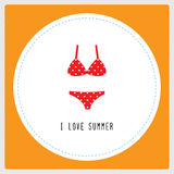 I love summer card1 Stock Image