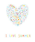 I love summer! Stock Images