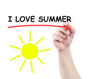 I love summer Stock Image