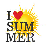 I love summer icon color vector Royalty Free Stock Photography