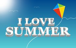 I love summer lettering. Royalty Free Stock Photography