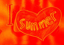 I love summer. Royalty Free Stock Image