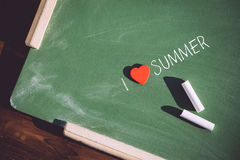 I love summer phrase handwritten Stock Photo