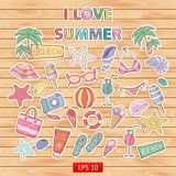 I love summer set. Stock Photos