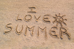 I love summer symbol Stock Photo