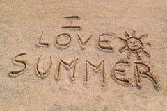 I love summer symbol Stock Photo