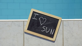 I love the sun Royalty Free Stock Images