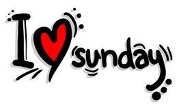 I love sunday Royalty Free Stock Photo
