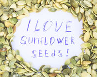 I love sunflower seeds Stock Photo