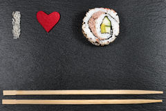 I love sushi Stock Images