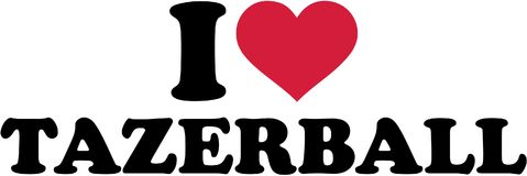 I love tazerball. Vector sports Royalty Free Stock Images