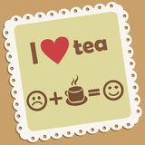 I love tea. Retro vector icon Royalty Free Stock Photography