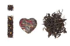 I love tea. tea collection. Royalty Free Stock Photo