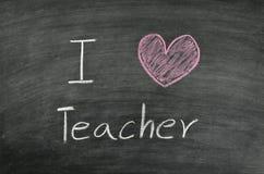 I love teacher Stock Photos