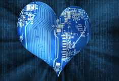 I Love Technology - Electronics Heart Concept Royalty Free Stock Photography