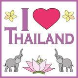 I love Thailand background Stock Images