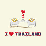 I love Thailand5 Royalty Free Stock Images