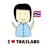 I love Thailand1 Royalty Free Stock Photography
