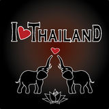 I love Thailand . Set Thai color vector icons and symbols Stock Photos