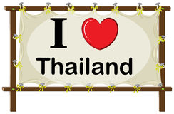 I love Thailand sign Stock Image
