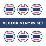 I Love Thailand vector stamps set. Stock Photo
