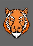 The tiger face. I love tiger this beast design is good for your poster or your daily shirt royalty free stock photos