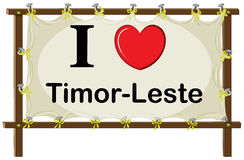 I love Timor Leste sign Stock Image