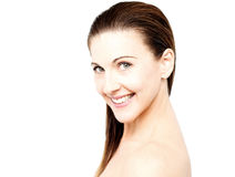I am love to care my skin. Royalty Free Stock Image