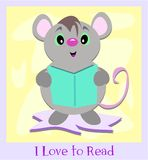 I Love to Read Mouse Royalty Free Stock Photo