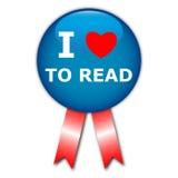 I love to read rosette Stock Image