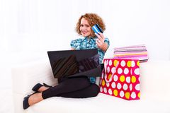 I love to shop online Royalty Free Stock Photos