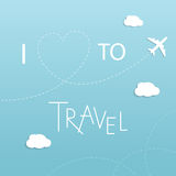 I love to travel concept vector illustration